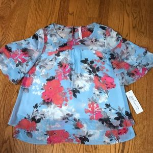 NWT NY Collection blue blouse